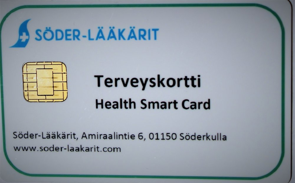 Pictured: a deployed Onesys Medical Card Courtesy of Söder-Lääkärit in Finland