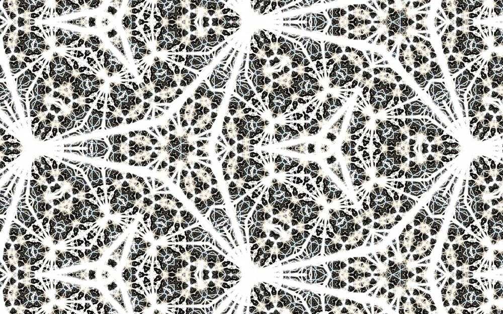 'Kaleidoscope recursion' levels can be increased to create intricate motifs which resemble islamic abstract patterns.