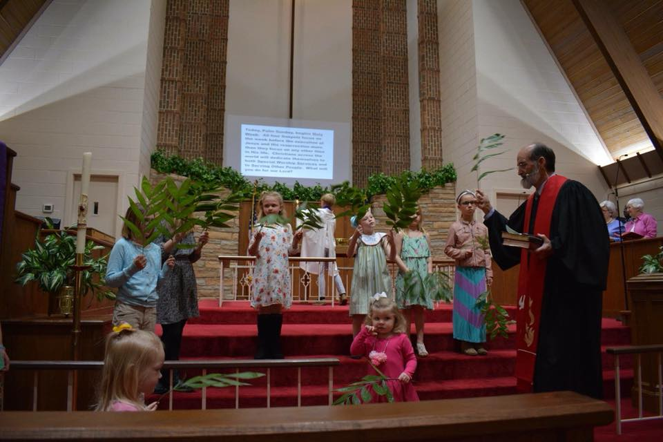 Our children on Palm Sunday