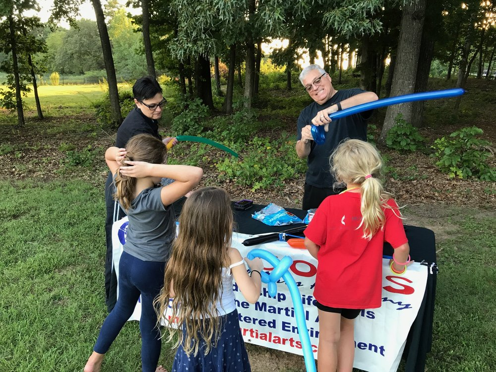 Balloon Fun with Macon Martial Arts at Family Fun Night