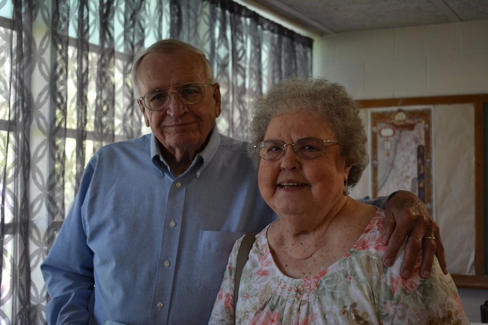 Don & Dot Gwynn after service