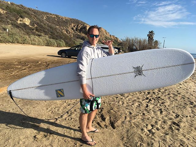 Frasier is taking his new #crookssurfessentials custom longboard back home to England! Safe travels Frasier, enjoy the new shred sled! 🏄🌊😎👍☝️️ #surf #surfing #surfboard #surfer #england #newboard #toy #sled #ocean #beach #active #lifestyle #waterman