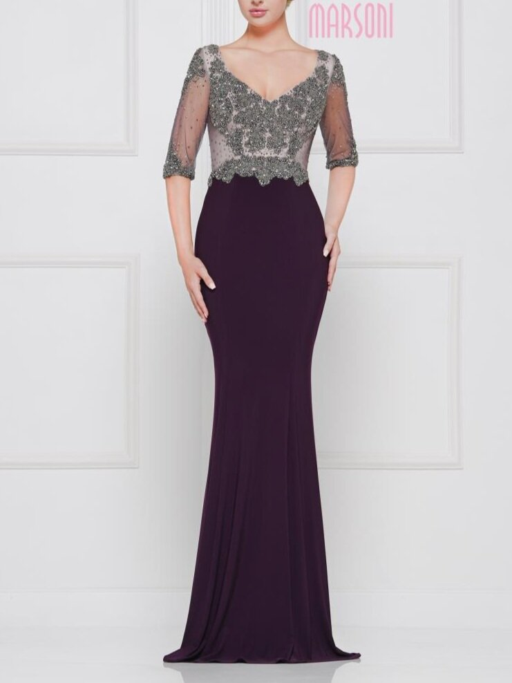 Marsoni M192    Available in sizes 6-24 in Pewter, Navy,  Eggplant and Black