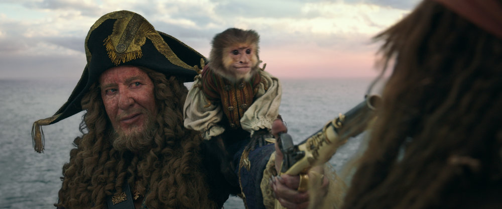 Captain Barbosa (Rush) is back (and Jack the Monkey too!)