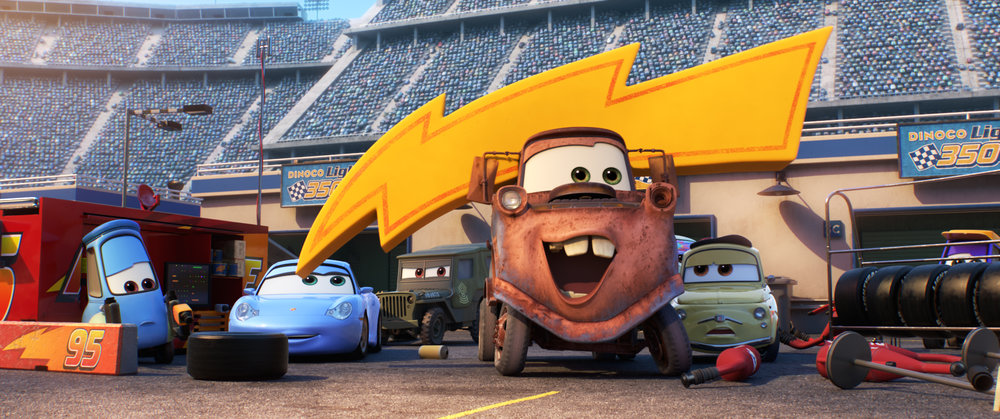Some old friends return such as Mater, Sally and more.
