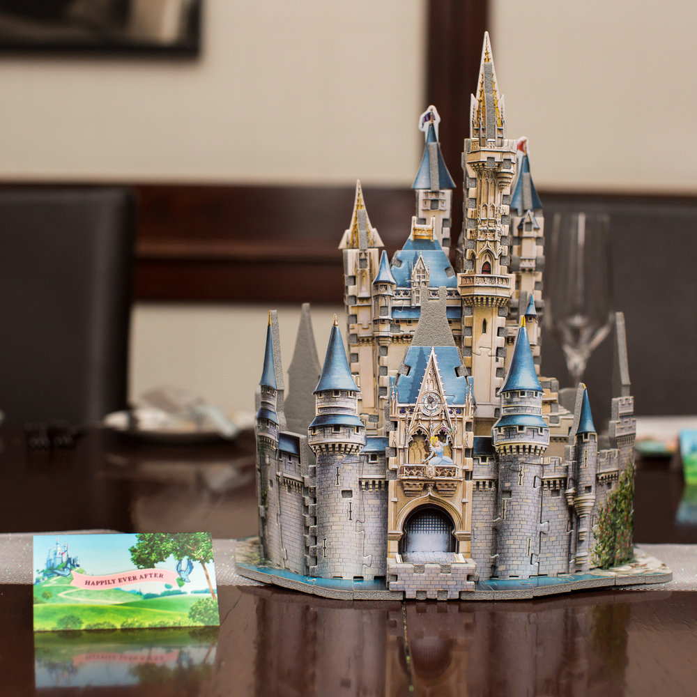 A 3D puzzle turned centerpiece.