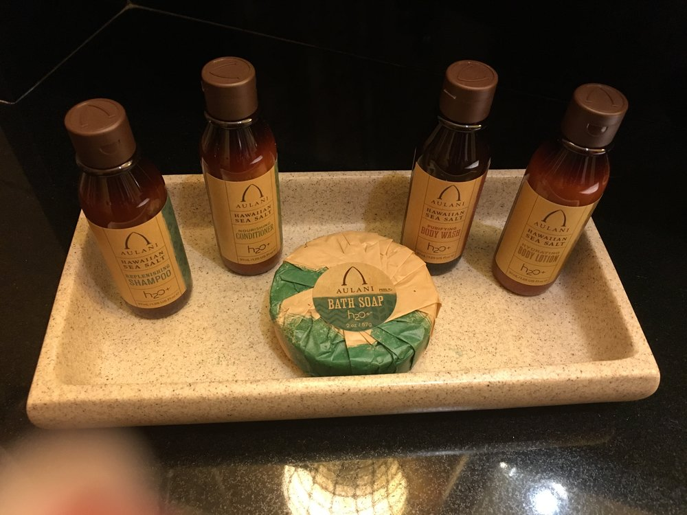 The H20 products were specific to Aulani and smelled very clean and natural.