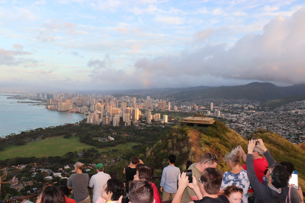 The view of Honolulu from the top of the crater.