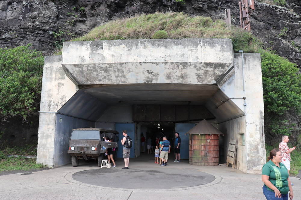 The bunker is actually a large U. We entered in one side and came out on this side.