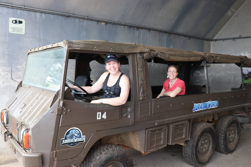 This vehicle was used in Jurassic World when the tourists are driving through a heard of dinosaurs.