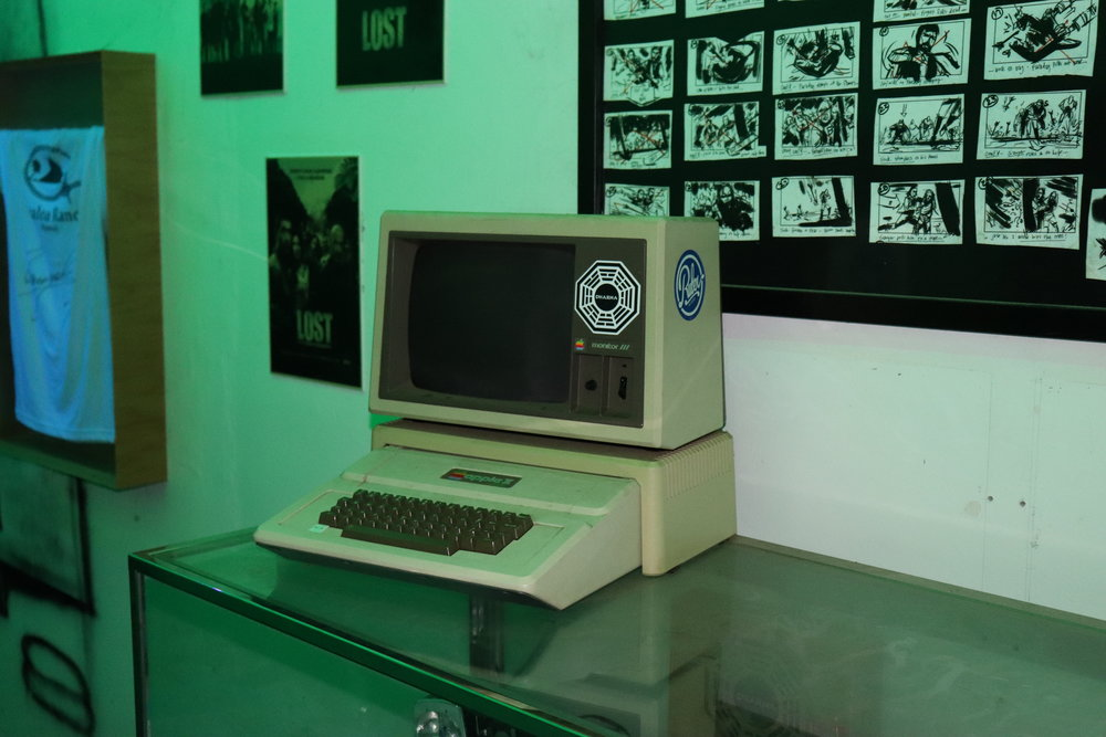 A prop computer used when filming Lost.