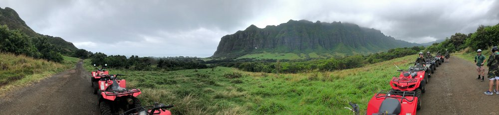A view of the entire valley from our only ATV tour stop.