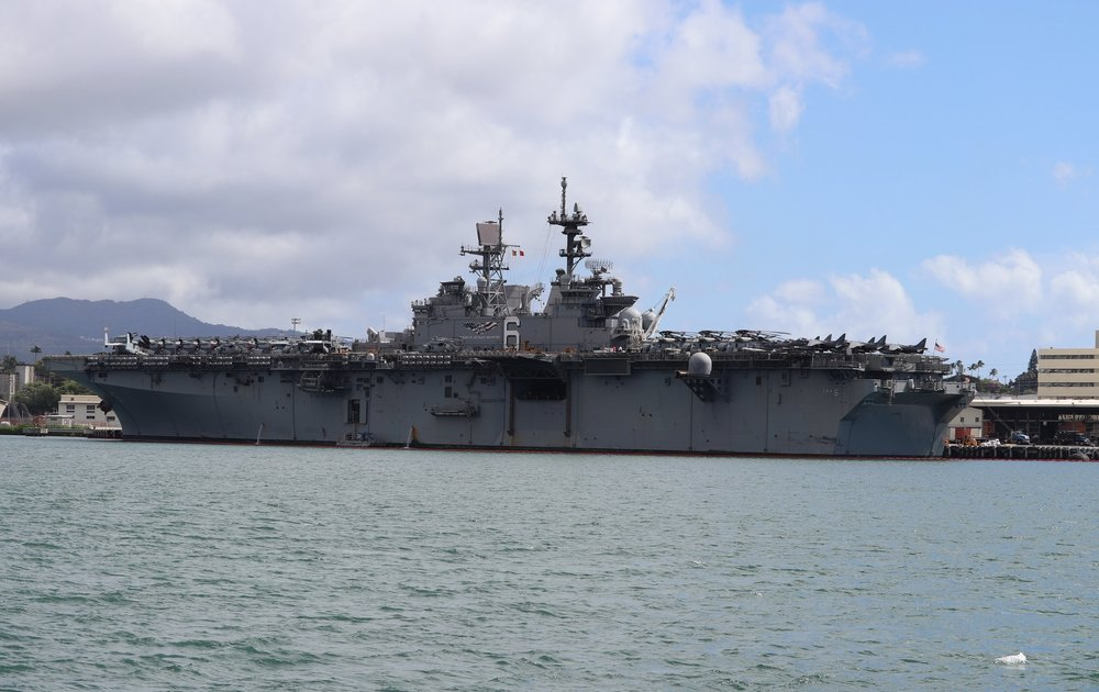 The ship in port that day was LHA-6, the USS America.