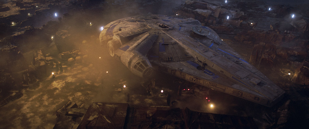 One of Han's loves: the Millennium Falcon