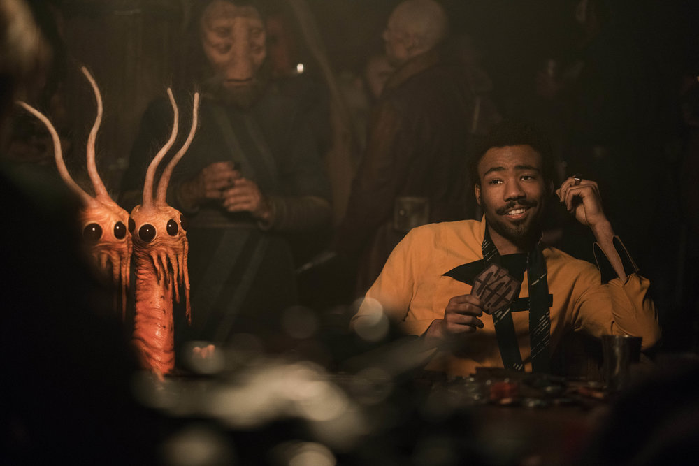 There are some old friends like Lando (Glover).