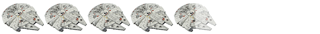 """HIS RATING: 4.5 out of 5.0 """"Millennium Falcons"""""""