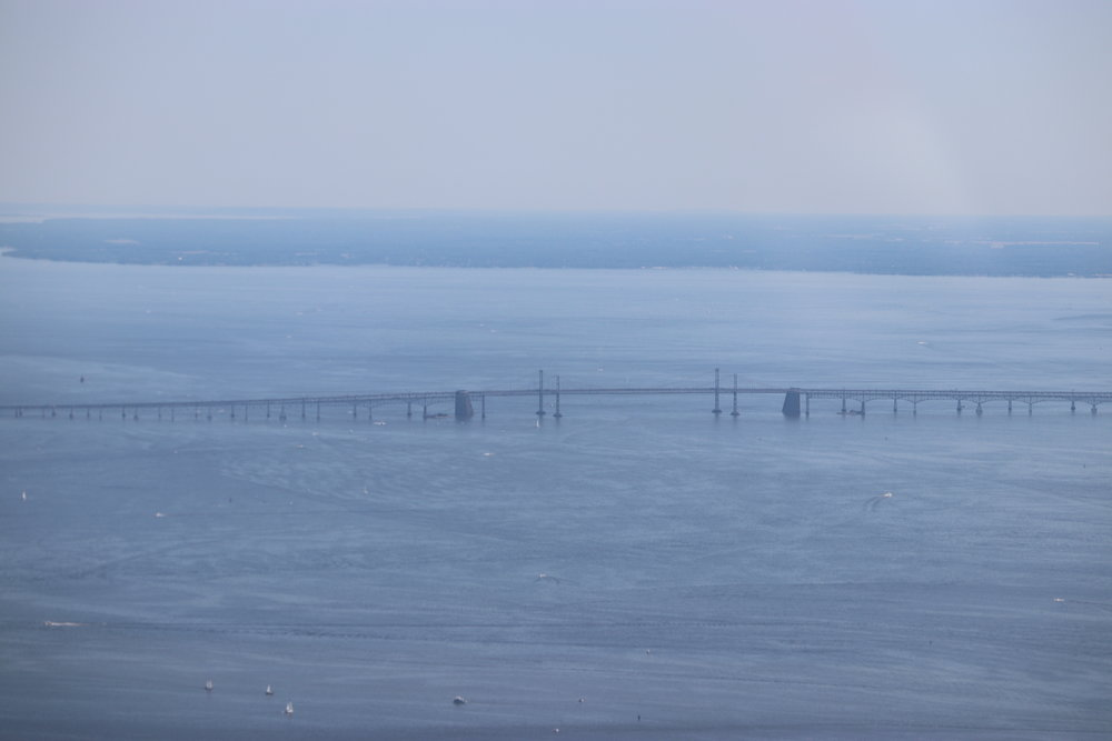 The Chesapeake Bay Bridge.
