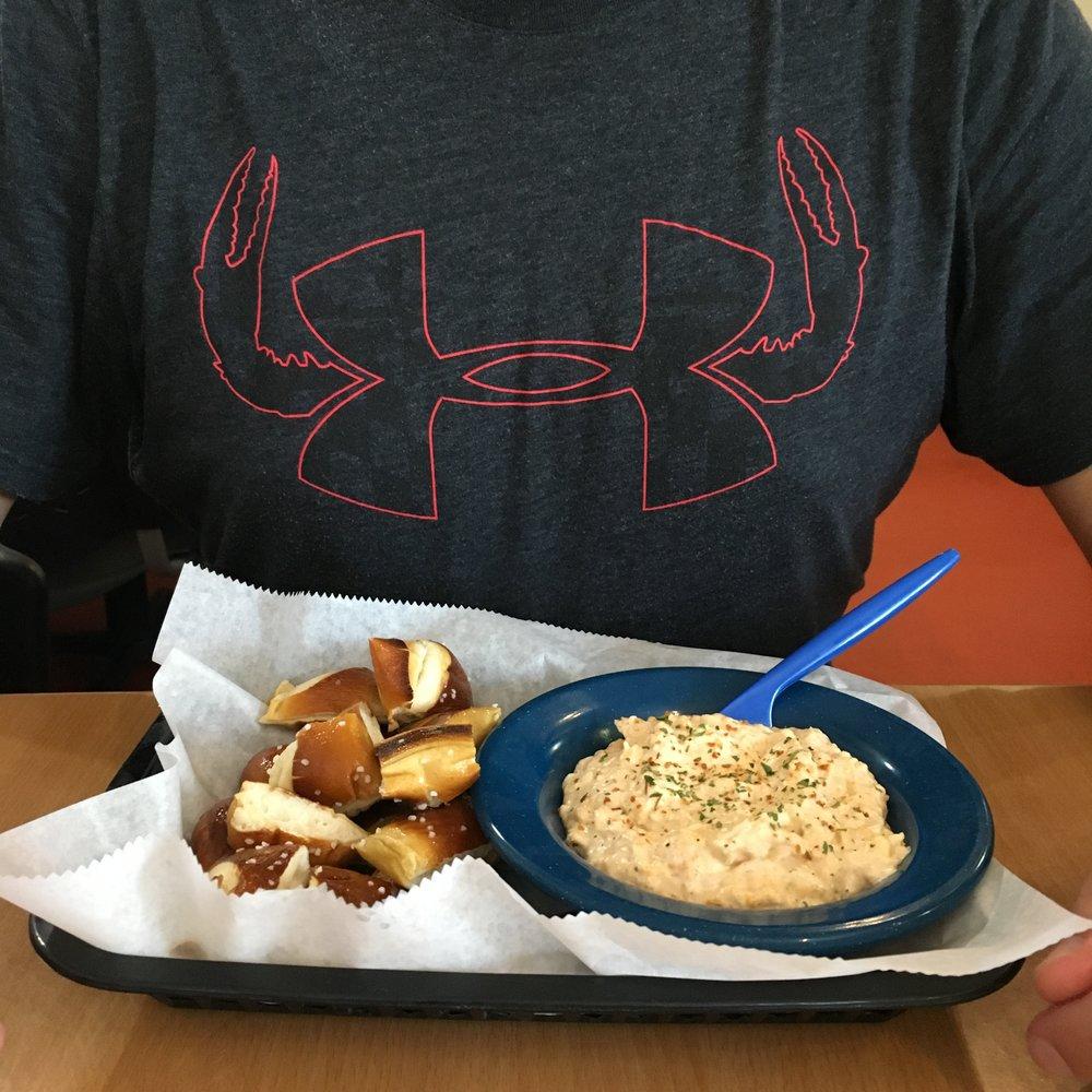 Delicious crabby dip.