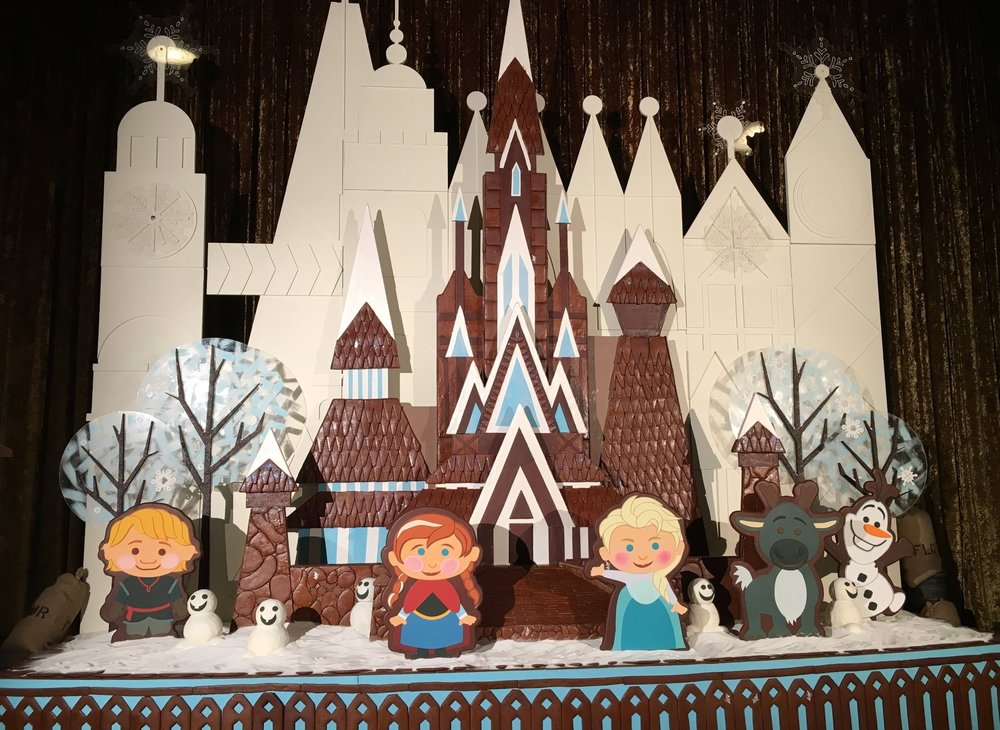 A chocolate display at the Contemporary.