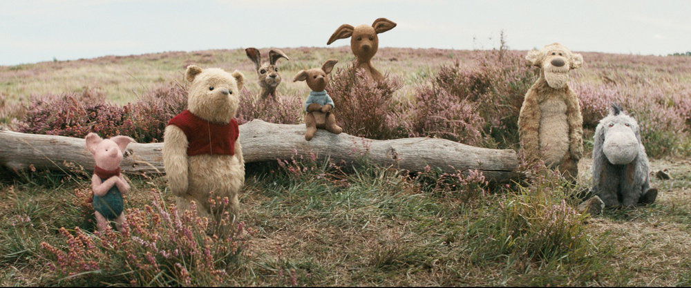 Old friends are brought to life on the big screen. How cute are Piglet, Pooh, Rabbit, Roo, Kanga, Tigger and Eeyore?