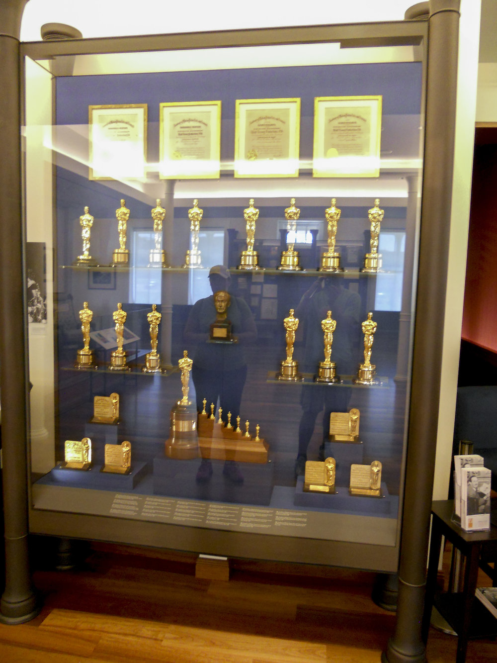 A collection of Oscars including the special  Snow White and the Seven Dwarves  edition.