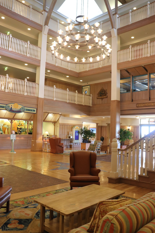 The Main Lobby of Disney's Vero Beach Resort.