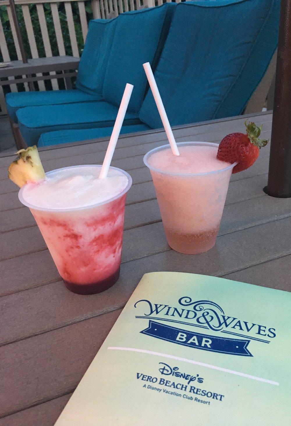 Yummy pool side drinks.