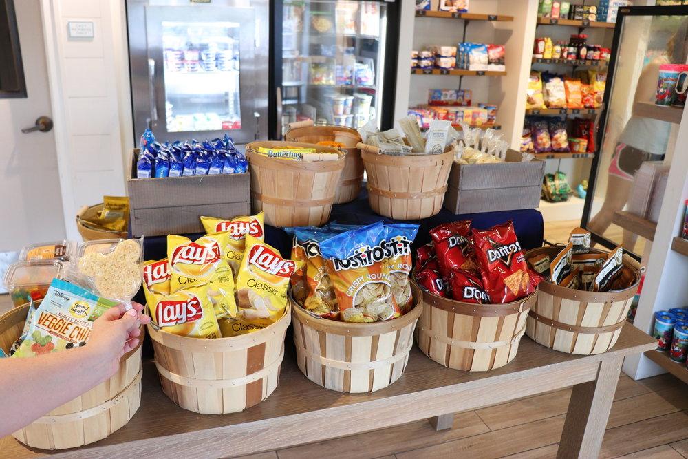 Plenty of snacks to include Mickey Krispy treats!