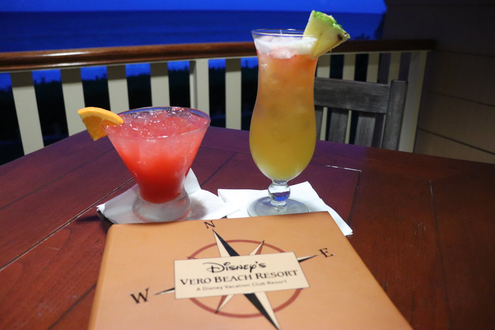 What is better than enjoying delicious Disney drinks with an ocean view?