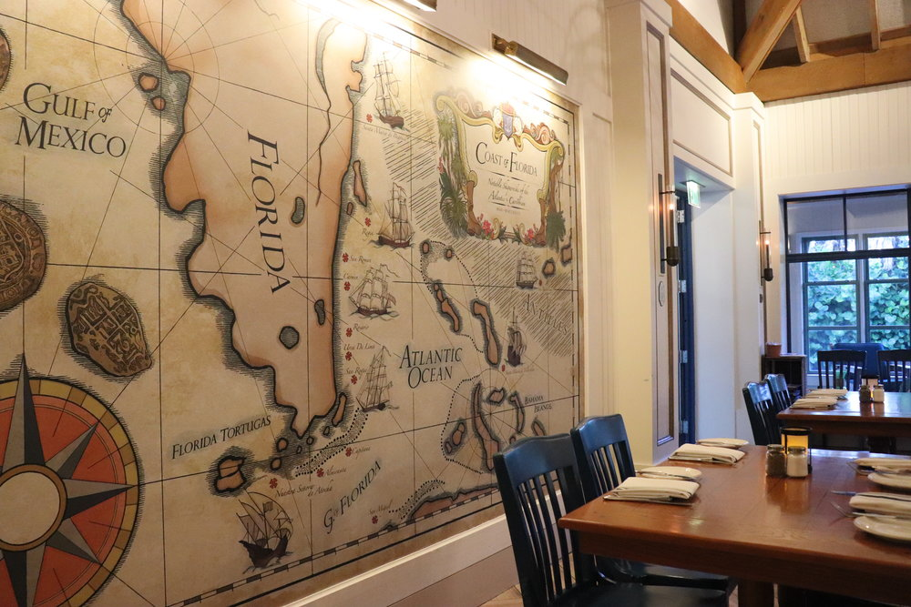 We loved this wall that featured a vintage inspired map.