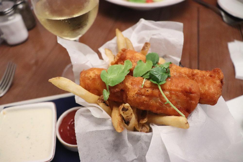 Fish & chips starter.