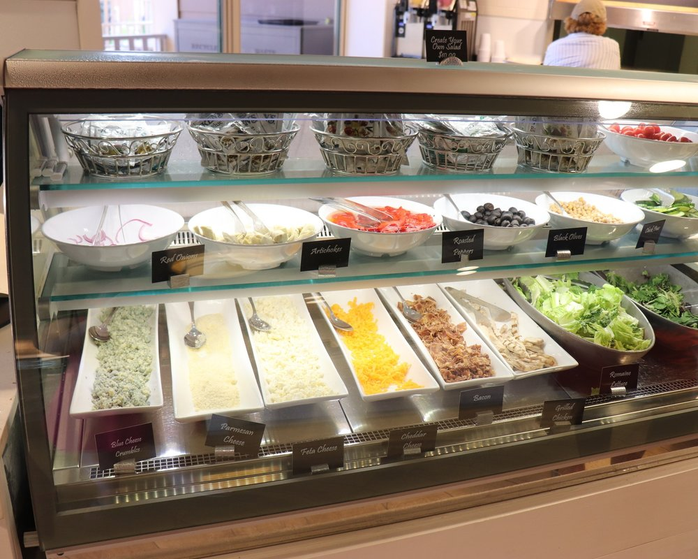 The create your own salad bar.