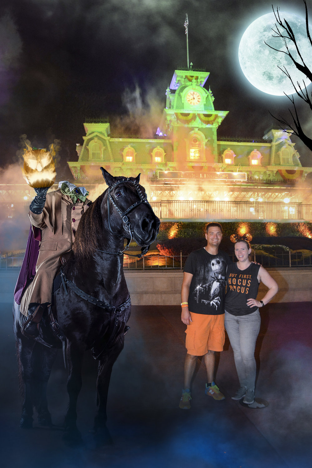 When the Headless Horseman stops for a pic.
