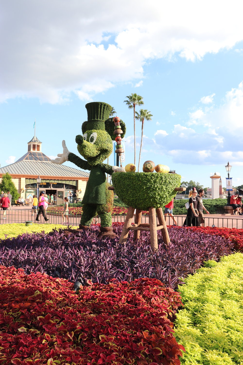 We love when Epcot has special topiary designs.