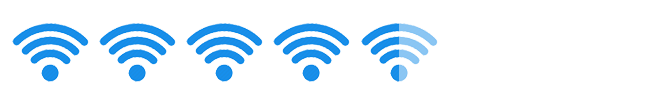 """His rating: 4.5 out of 5 """"WiFi Signals"""""""