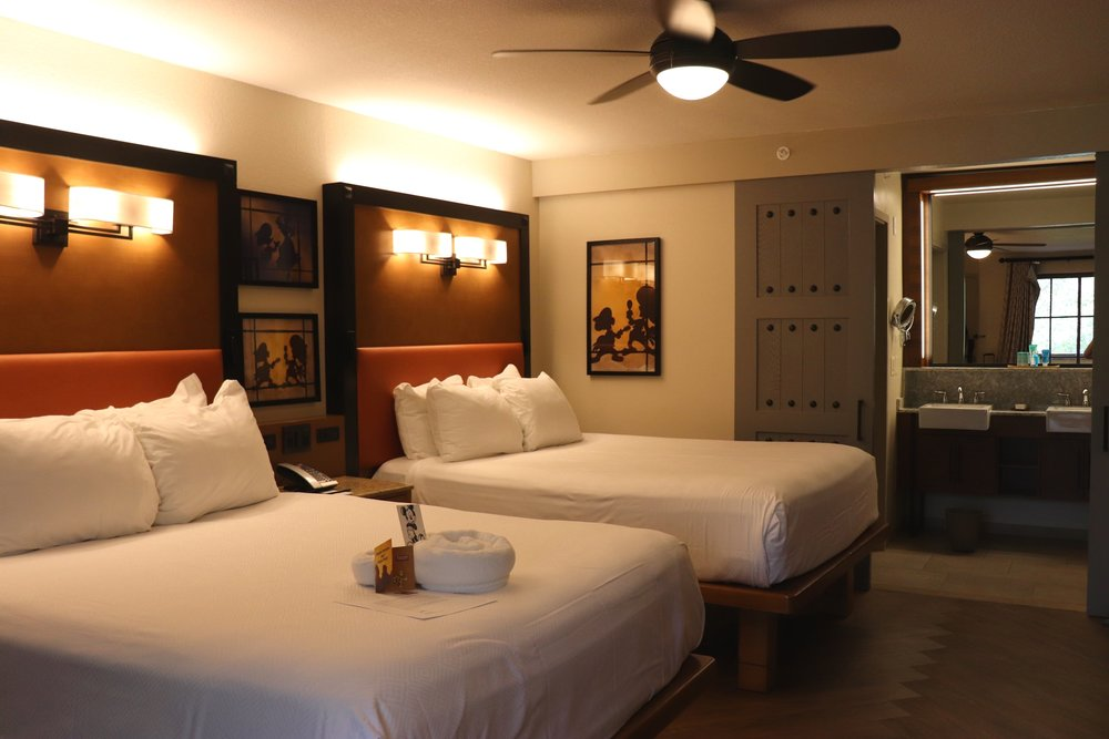 Our newly remodeled room at Coronado Springs.