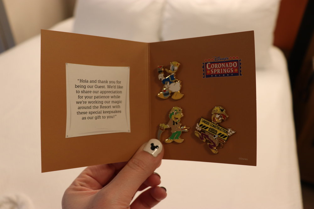 We even received a special pin set as a small thank you.