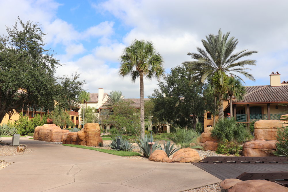 Much of the landscaping fit the southwest theming.