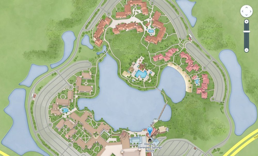 You can see how large the resort is. The main lobby and dining areas are all at the very bottom. Our room was in the furthest building at the very top of this map. The large pool area in the middle was completely shut down.