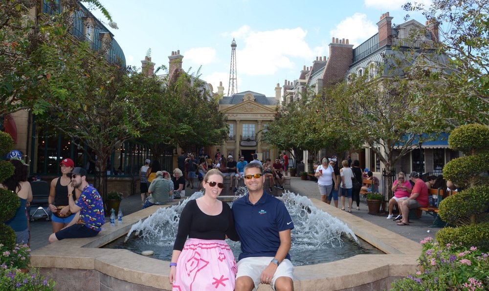 Here we are at  EPCOT  dreaming of visiting the real Paris one day…and this is the year we are going to make it happen!