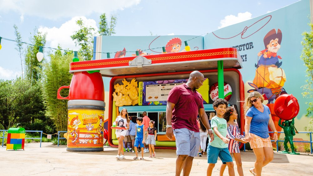 This is the complete opposite of how Andy's Lunch Box looked the day of our visit, it was completely jam packed. (Photo: Disney)