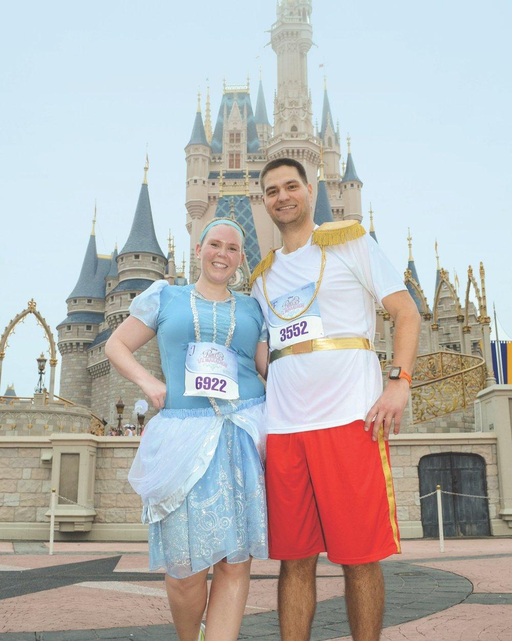 Running the Princess Half Marathon.