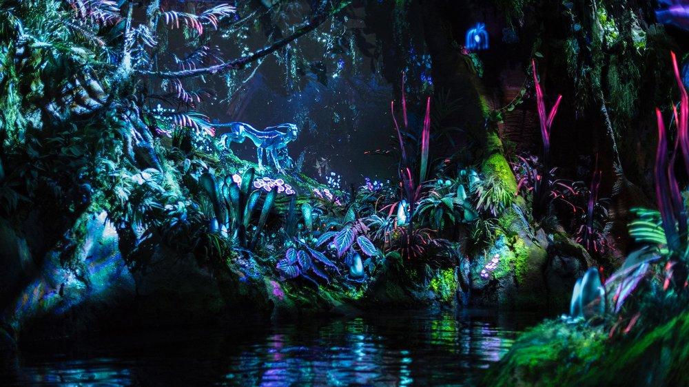 A scene from inside the Na'vi River Journey. (Photo Credit: Disney)