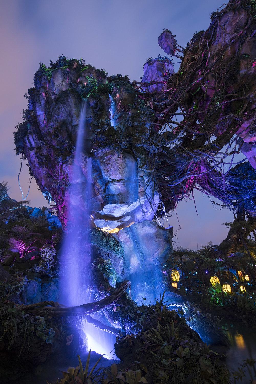 Pandora mountains at night. (Photo credit: Disney)