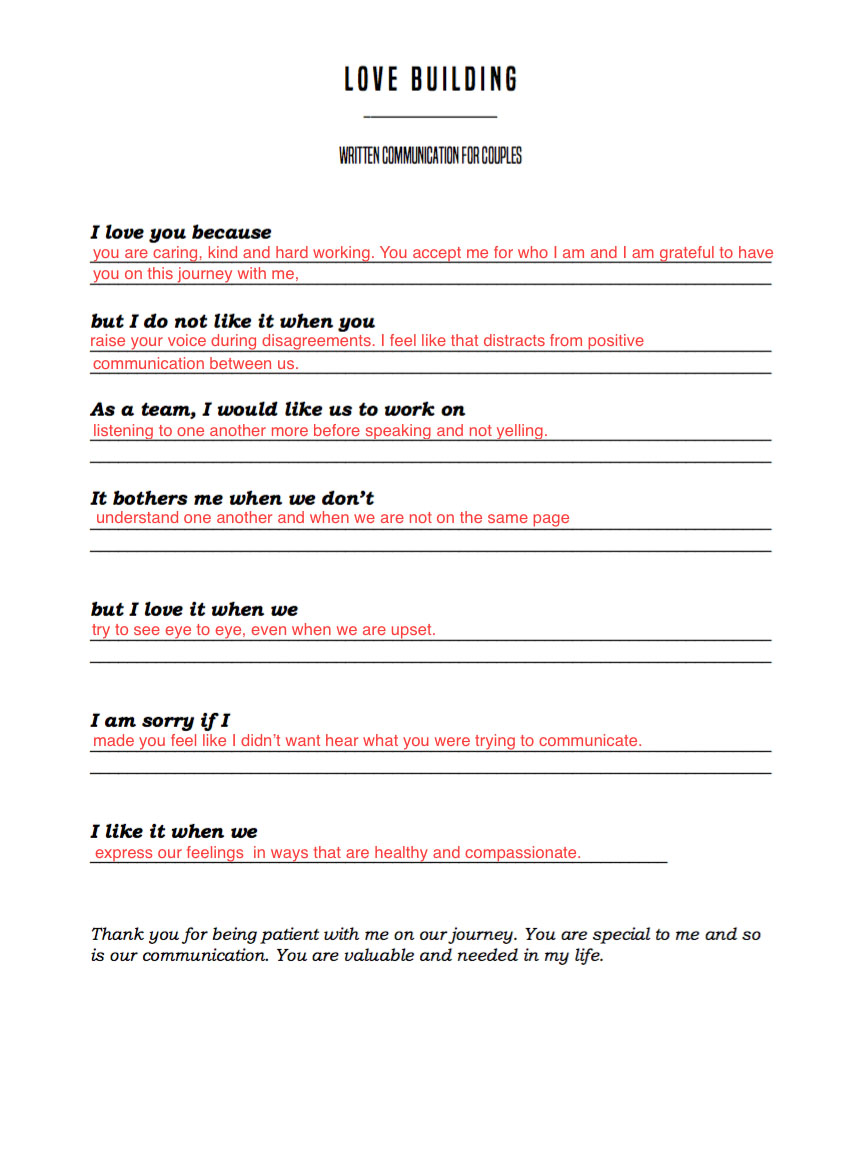 Worksheets Healthy Relationship Worksheet another sunday lovebuilding for communication