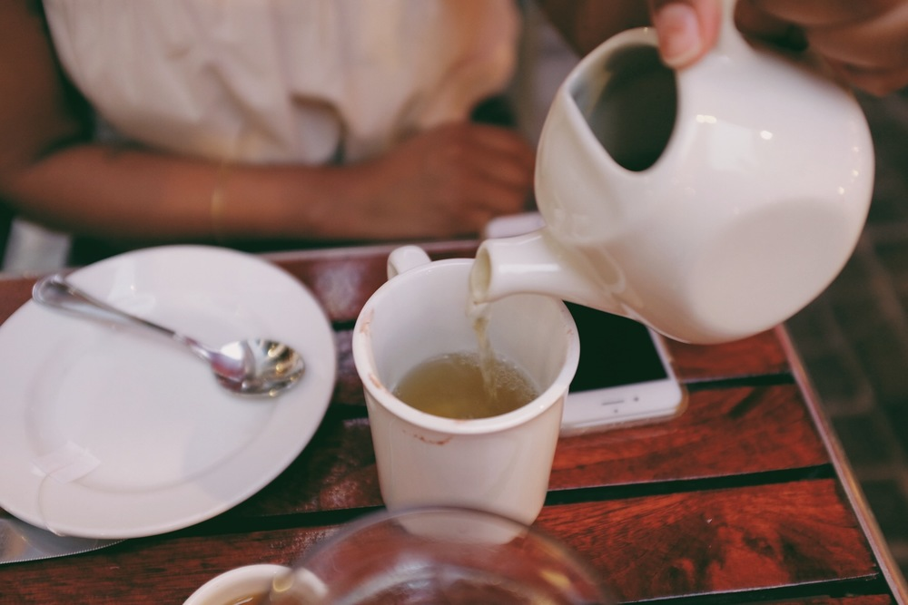 Tea at dinner is always a must.