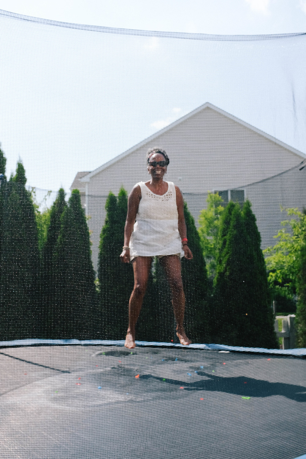 nana was killing it on the trampoline!