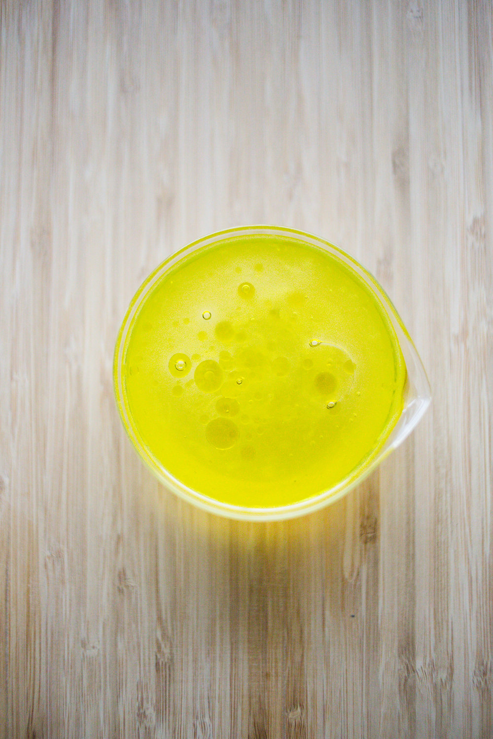 1/3 cup aloe vera gel + 1/3 cup extra virgin olive oil