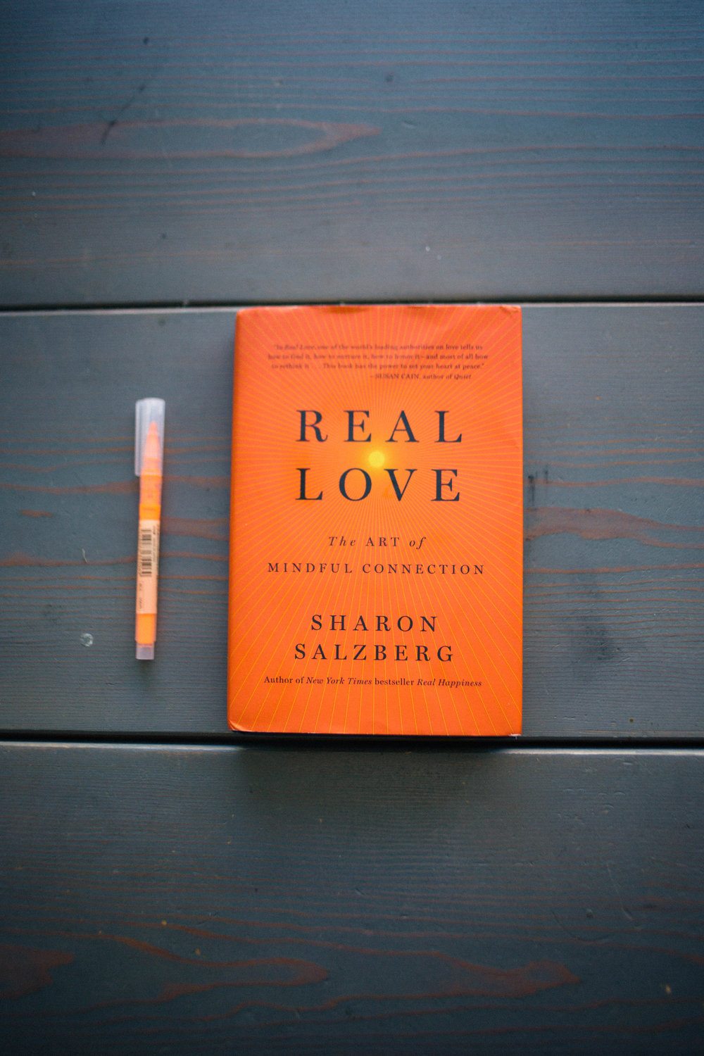 "This book is life changing. Get it. Now. ""Real Love"" by Sharon Salzberg"