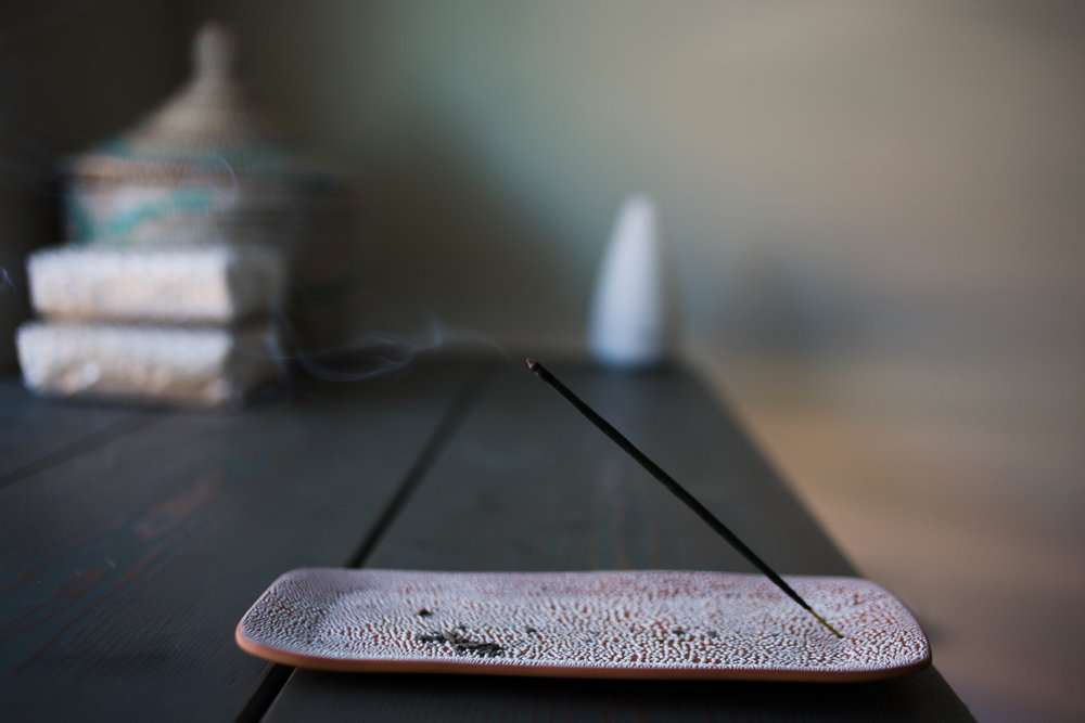 These Cardamom Vanilla Incense are everything + this incense holder is amazing.